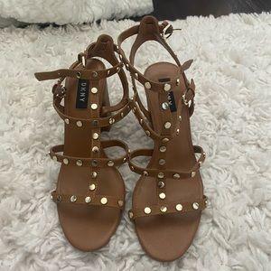 DKNY brown heels